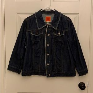 Issac Mizrahi Jean jacket raw edges